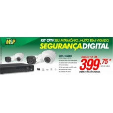 Kit - CFTV - (DVR 04 c/ Hd e Câmeras)